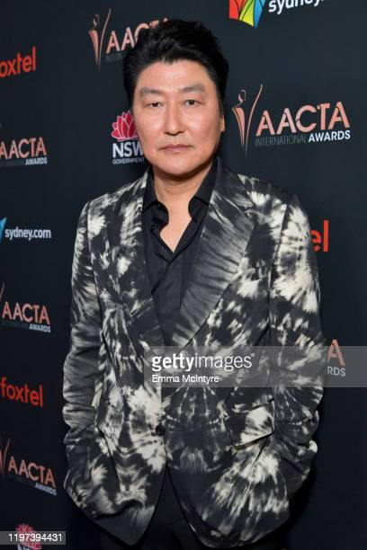 Song Kang Ho attends the 9th Annual Australian Academy Of Cinema And Television Arts International Awards at SkyBar at the Mondrian Los Angeles on...