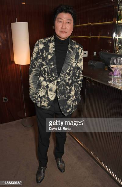 Song KangHo attends an AMPAS screening of Parasite at The Bulgari Hotel on December 13 2019 in London England