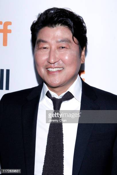 """Song Kang-Ho attends the """"Parasite"""" premiere during the 2019 Toronto International Film Festival at Ryerson Theatre on September 06, 2019 in Toronto,..."""
