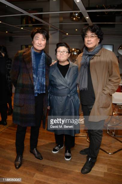 Song KangHo Jeongeun Lee and Bong Joonho attend the Parasite QA with director Bong Joonho at BFI Southbank on December 11 2019 in London England