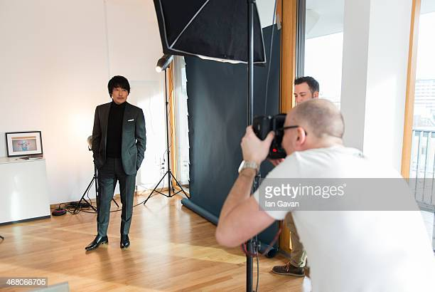 Song kangho poses during a portrait session for Contour Photographer Francois Berthier during the 64th Berlinale International Film Festival on...