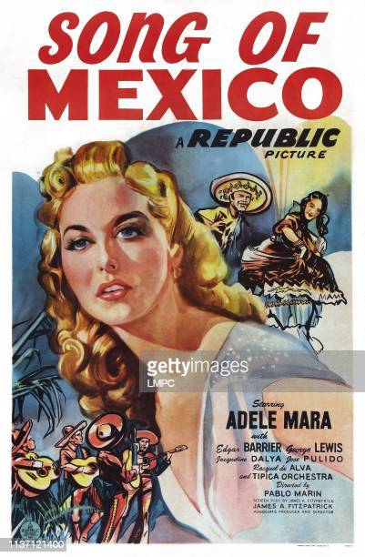 Song Of Mexico poster US poster art Adele Mara 1945