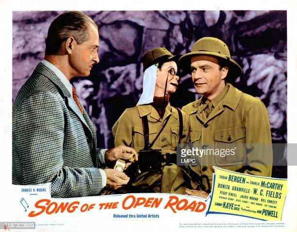 Song Of The Open Road US lobbycard from left Reginald Denny Charlie McCarthy Edgar Bergen 1944