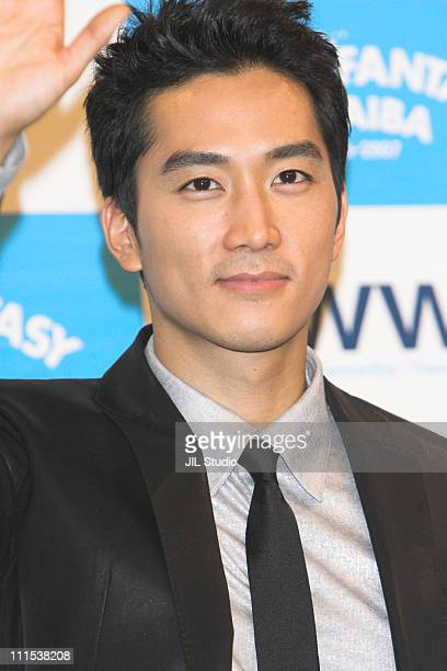 Song SeungHeon during HOT FANTASY ODAIBA 20062007 Press Conference with Song SeungHeon at Fuji Television in Tokyo Japan