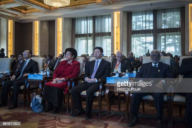 Song Tao China's minister of the International Department of the CPC Central Committee attends the closing ceremony of a meeting of world parties...