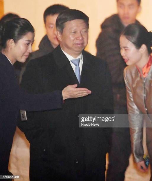 Song Tao head of the Chinese Communist Party's International Department arrives at Beijing airport on Nov 20 after a trip to North Korea as a special...