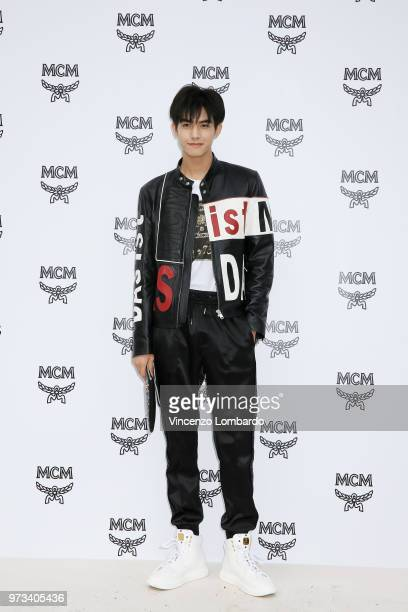 Song Weilong attends the MCM Fashion Show Spring/Summer 2019 during the 94th Pitti Immagine Uomo on June 13 2018 in Florence Italy