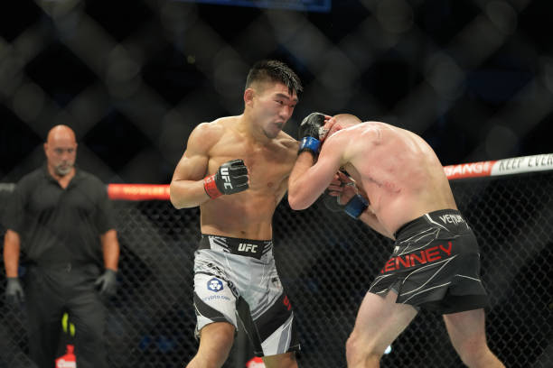 Song Yadong and Casey Kenney meet in the octagon for a 3 round Bantamweight bout during UFC 265 on August 07 at Toyota Center in Houston, TX.
