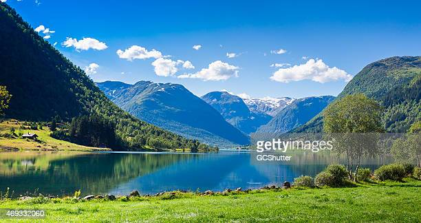 songdal's fjord in norway - norway stock pictures, royalty-free photos & images