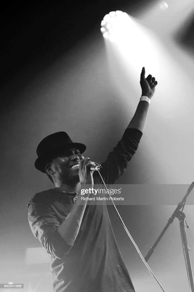 Songhoy Blues perform on stage during the Liverpool International Festival of Psychedelia on September 22, 2017 in Liverpool, England.