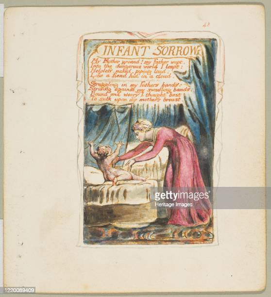Songs of Innocence and of Experience: Infant Sorrow, circa 1825. Artist William Blake.