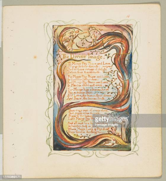 Songs of Innocence and of Experience: The Divine Image, circa 1825. Artist William Blake.