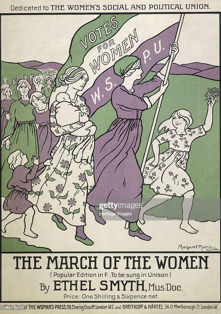 Songsheet of 'The March of the Women', 1911. Artist: Margaret Morris : News Photo