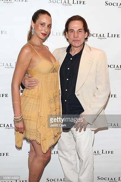 Songstress Jamie Jo Harris and Couri Hay attend the social life magazine party at The Social Life Estate on July 3, 2010 in Watermill, New York.