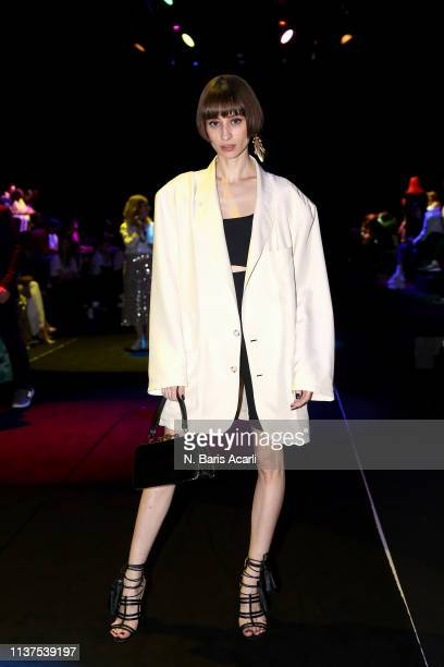 Songul Haydarpasa attends the Exquise show during MercedesBenz Fashion Week Istanbul March 2019 at Zorlu Center on March 22 2019 in Istanbul Turkey