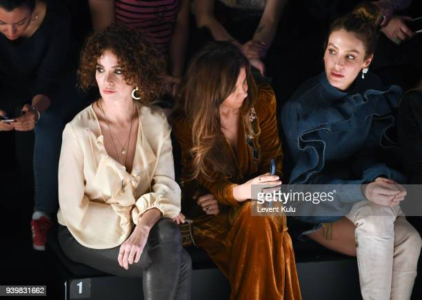 Songul Oden and guests attend the MercedesBenz presents Sudi Etuz show during Mercedes Benz Fashion Week Istanbul at Zorlu Performance Hall on March...