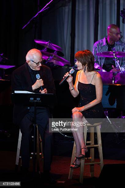 Songwriter Alan Bergman performs with Lari White at the 7th Annual 'We Write The Songs' Concert at The Library of Congress on May 12 2015 in...