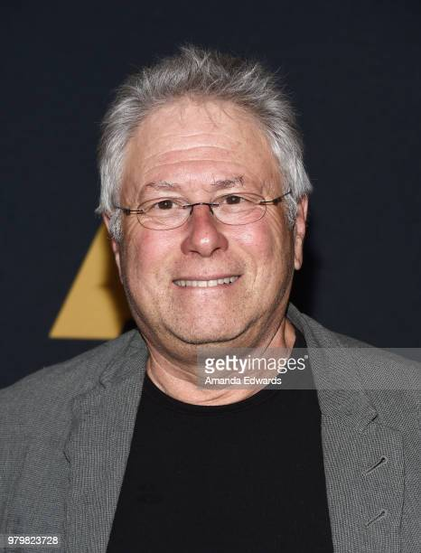 Songwriter Alan Menken arrives at The Academy Of Motion Picture Arts And Sciences presentation of 'The Sherman Brothers A Hollywood Songbook' at the...