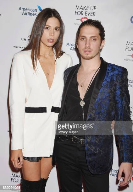 Songwriter Ali Tamposi and musician Andrew Watt arrive at the Universal Music Group's 2017 GRAMMY After Party at The Theatre at Ace Hotel on February...