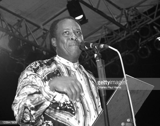 Songwriter and musician David Porter receives an award for services to Soul music at the Porretta Soul Festival on July 23, 1995 in Porretta Terme,...