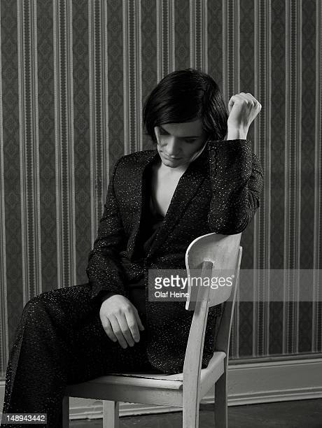 Songwriter and musician of rock band Placebo Brian Molko is photographed for on February 20 2008 in Berlin Germany