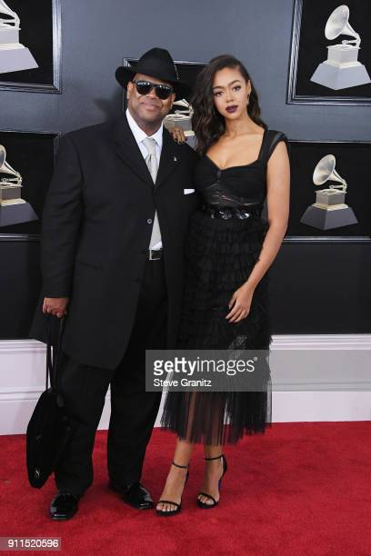 Songwriter and producer Jimmy Jam and Bella Harris attend the 60th Annual GRAMMY Awards at Madison Square Garden on January 28 2018 in New York City