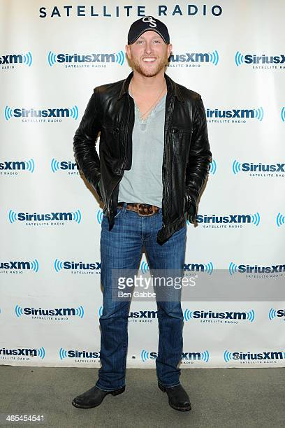 Songwriter and recording artist Cole Swindell visits SiriusXM Studios on January 27 2014 in New York City