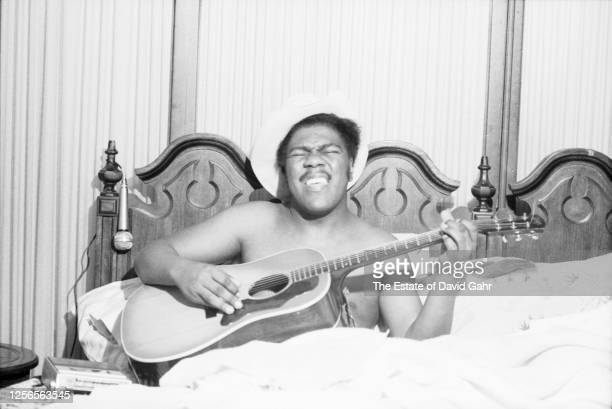 January 19: R&B songwriter and singer Don Covay poses for a portrait on January 19, 1973 at his home in Franklin Square, Long Island in New York. Don...