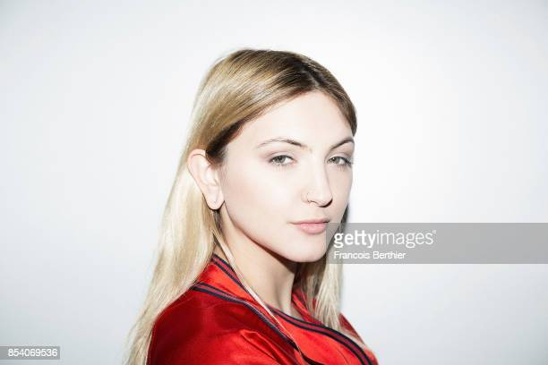 Songwriter and singer Julia Michaels is photographed for Self Assignment on February 27 2017 in Paris France