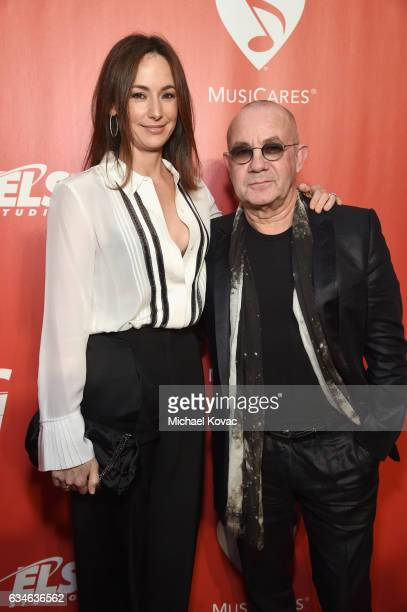 Songwriter Bernie Taupin and Heather Taupin attend MusiCares Person of the Year honoring Tom Petty at the Los Angeles Convention Center on February...