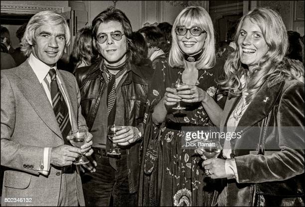 Songwriter Bill Martin at a party in London, 1976.