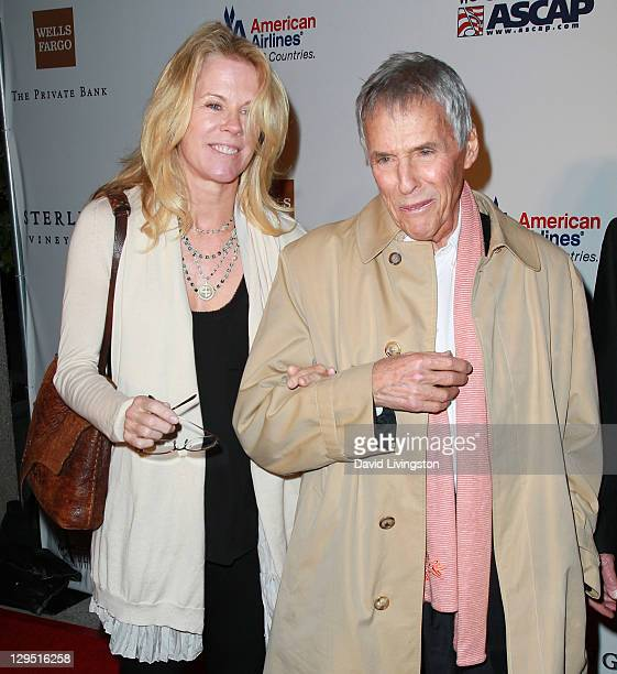 Songwriter Burt Bacharach and wife Jane Hansen attend Love Sweet Love a musical tribute to Hal David at the Mark Taper Forum on October 17 2011 in...