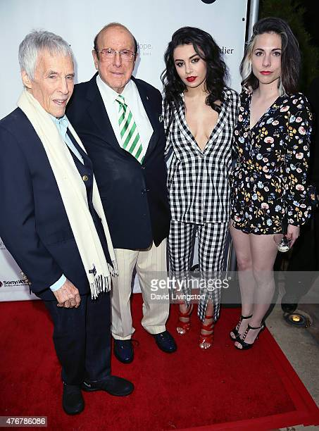 Songwriter Burt Bacharach record producer Clive Davis and recording artists Charli XCX and CuckooLander attend the City of Hope's 11th Annual Songs...
