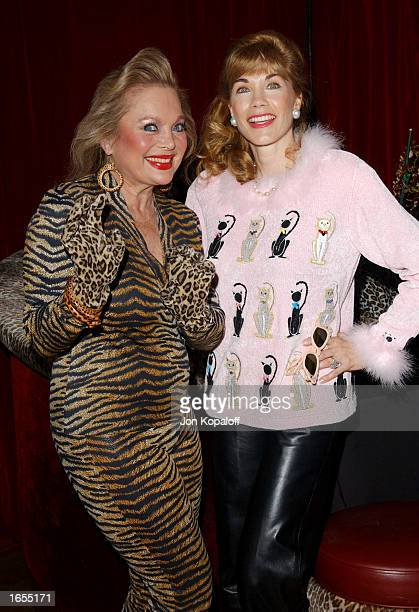 Songwriter Carol Connors and actress Barbi Benton attend Barbi Benton's Birthday Purrfect Party for songwriter Carol Connors at the Jade West...