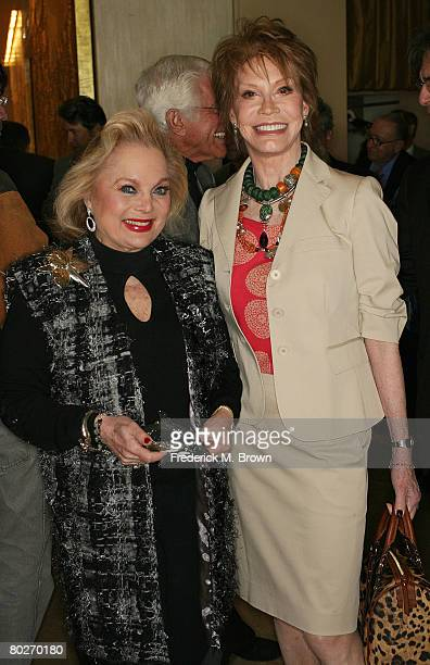 Songwriter Carol Connors and actress Mary Tyler Moore attend the Tribute To Mary Tyler Moore at the Beverly Hilton Hotel on March 16 2008 in Beverly...