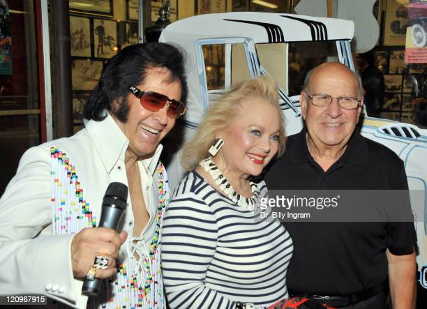 Songwriter Carol Connors Elvis' Best Man Joe Esposito and Elvis impersonator attend Elvis hit making team The EndCD launch and George Barris book...