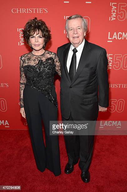 Songwriter Carole Bayer Sager and film executive Robert A Daly attend the LACMA 50th Anniversary Gala sponsored by Christie's at LACMA on April 18...
