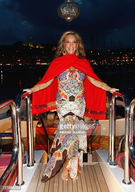 Songwriter Denise Rich attend the Denise Rich Yacht Party at the MY Lady Joy Yacht during the 61st International Cannes Film Festival on May 23 2008...