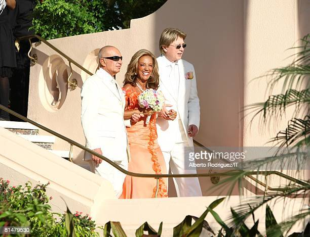 RATES Songwriter Denise Rich is escorted during the wedding of Ivana Trump and Rossano Rubicondi at the MaraLago Club on April 12 2008 in Palm Beach...