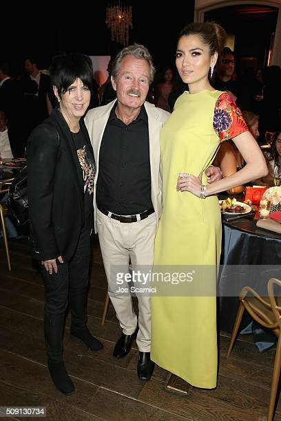 Songwriter Diane Warren actor Jon Savage and actress Blanca Blanco attend The Hollywood Reporter's 4th Annual Nominees Night sponsored by FIJI Water...