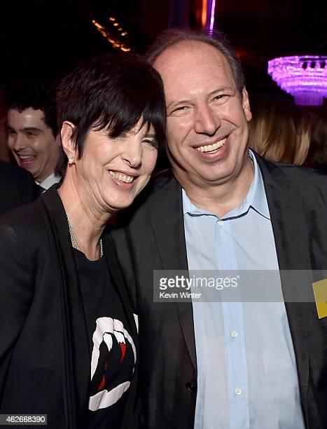 Songwriter Diane Warren and composer Hans Zimmer attend the 87th Annual Academy Awards Nominee Luncheon at The Beverly Hilton Hotel on February 2...