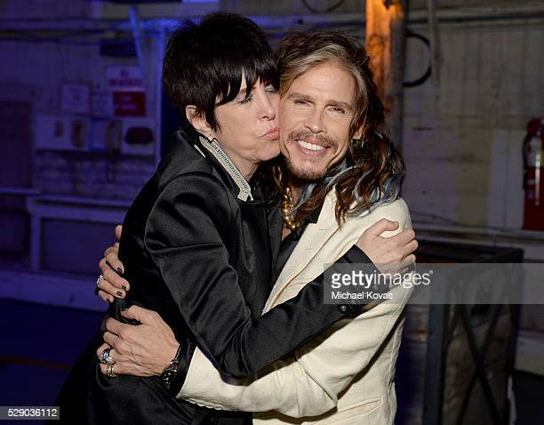 Songwriter Diane Warren and musician Steven Tyler attend The Humane Society of the United States' to the Rescue Gala at Paramount Studios on May 7...