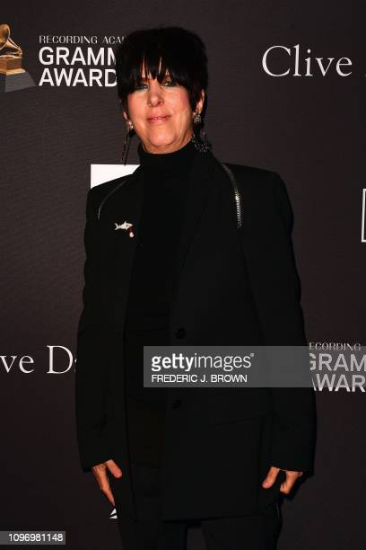 US songwriter Diane Warren arrives for the traditional Clive Davis party on the eve of the 61th Annual Grammy Awards at the Beverly Hilton hotel in...
