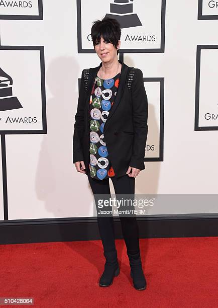 Songwriter Diane Warren attends The 58th GRAMMY Awards at Staples Center on February 15 2016 in Los Angeles California