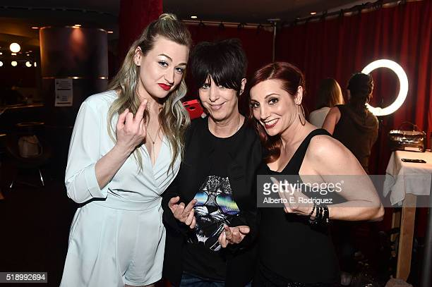 Songwriter Diane Warren poses in the broadcast room during the iHeartRadio Music Awards at The Forum on April 3 2016 in Inglewood California