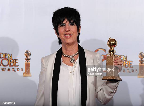 Songwriter Diane Warren poses with her award for Best Original Song for You Haven't Seen the Last of Me from Burlesque in the press room at the 68th...