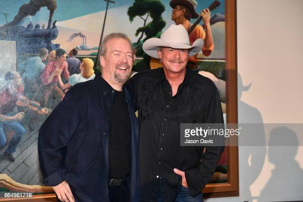 Songwriter Don Schlitz and Recording Artist Alan Jackson during the 2017 Hall of Fame Inductees Announcement where Alan Jackson, Jerry Reed and Don...