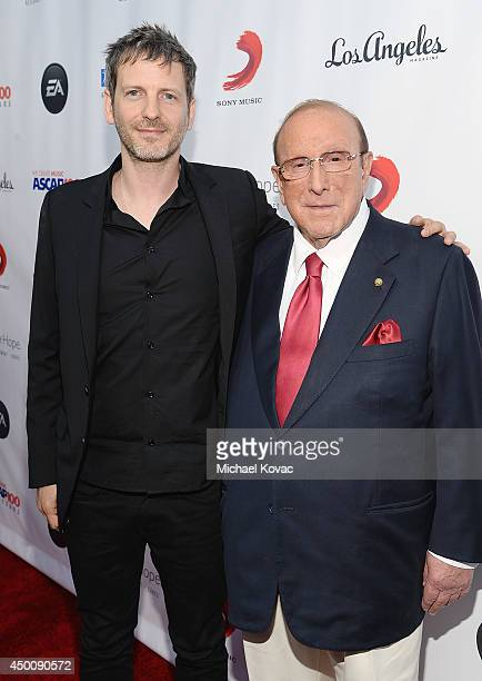 Songwriter Dr Luke and producer Clive Davis arrive at City of Hope's 10th Anniversary 'Songs Of Hope' on June 4 2014 in Brentwood California