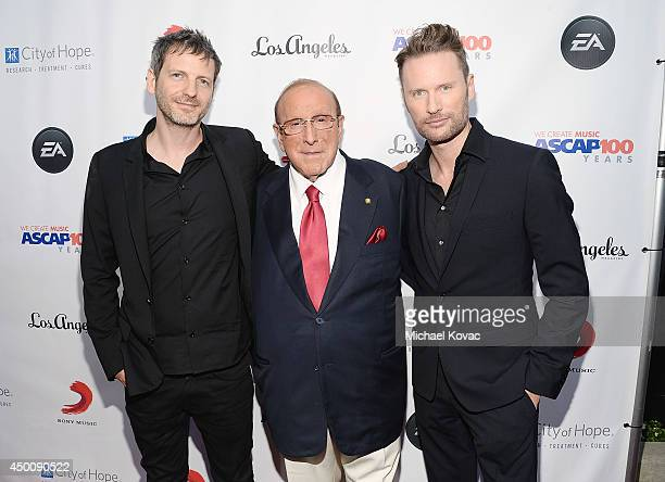 Songwriter Dr Luke producer Clive Davis and composer Brian Tyler arrive at City of Hope's 10th Anniversary 'Songs Of Hope' on June 4 2014 in...