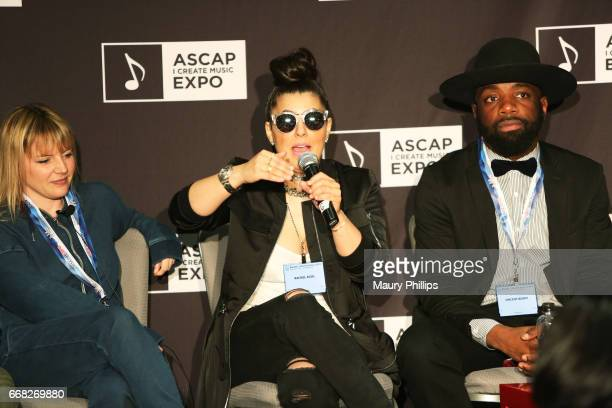 Songwriter Fran Hall songwriter Rachel Assil songwriter Vincent Berry speak onstage at 'ASCAP EXPO Freshman Orientation' during the 2017 ASCAP 'I...